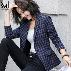 Plaid Blazer Coat Ladies Blazer Long Sleeve Jacket Ol Business Suit Coat Jacket Women Blazers Size M Color 889 Light Plaid Blazer Jackets For Women, Blazers For Women, Suits For Women, Blazer Outfits, Blazer Fashion, Fashion Outfits, Plaid Blazer, Blazer Dress, Dress Outfits