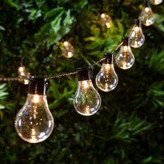 20 Warm White Carnival Plug In Festoon Lights | Lights4fun.co.uk