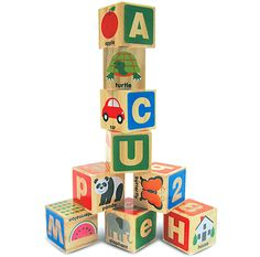ABC/123 Wooden Blocks by Melissa