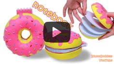 DIY Donut Notebook. See this tutorial here