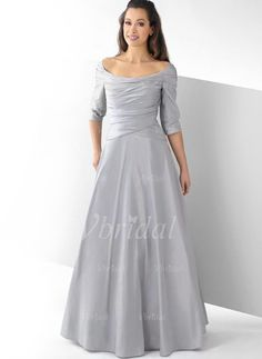 561979b8f8 Mother of the Bride Dresses -  143.29 - A-Line Princess Scoop Neck  Floor-Length Taffeta Mother of the Bride Dress With Ruffle (00805007614)