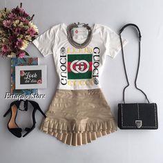 T-shirt Gucci | Saia Jaci Bege ❤️Muito amor envolvido   Compras on line:  www.estacaodamodastore.com.br  Whats app: (45)99953-3696 - Thalyta  #VAREJO  ☎️SAC: (45)3541-2940 ou 3541-2195  E-mail: vendas@estacaodamodastore.com.br