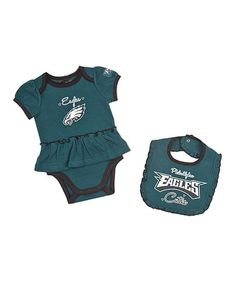 Take a look at this Philadelphia Eagles Skirted Bodysuit & Bib - Infant by NFL on #zulily today!