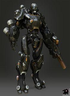 Zbrush - robot, Alexander Podvisotskiy on ArtStation at https://www.artstation.com/artwork/rXLKE
