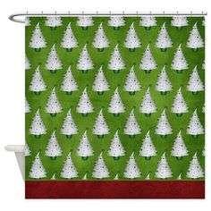 Christmas Holiday Trees Shower Curtain D5