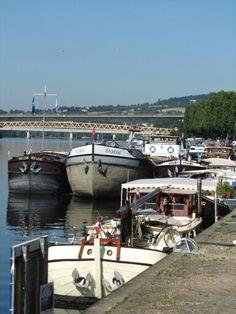 Conflans-Sainte-Honorine  la Seine et ses péniches