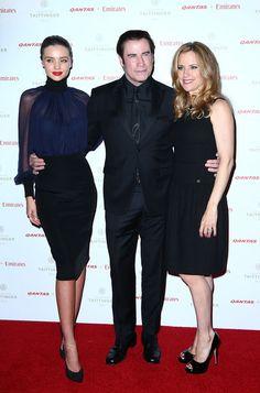 She matches John Travolta and Kelly Preston on the red carpet.