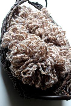 Boa basket filler / newborn photography prop by knitsandwhatknots, $30.00
