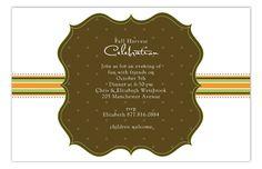 Harvest Banner Invitation from Polka Dot Design
