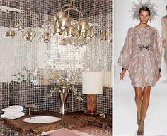 Elle Decor - shimmer bathroom