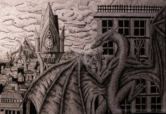 What time is it? Pen and Ink by Vapolord on DeviantArt