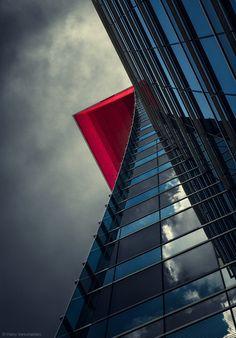 1X - The red balcony. by Harry Verschelden