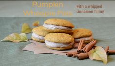 Pumpkin Whoopie Pies with a Whipped Cinnamon Filling - crack in the form of a whoopie pie