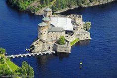 Olavinlinna Castle (1475) Savonlinna, Finland.
