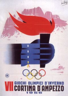 Cortina d'Ampezzo 1956 Winter Olympics poster