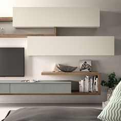 Salotti - New Sites Living Room Wall Units, Living Room Tv Unit Designs, Living Room Interior, Home Living Room, Living Room Decor, Furniture Design, Tv Furniture, House Design, Interior Design