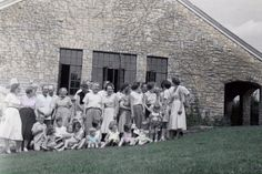 My mom's family reunion-approx 1955.  How I used to love going to these. We continued to have these until 2001- a short time after our grandmother died.