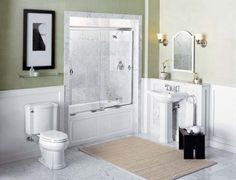 Half bathroom ideas - If you are considering updating your old half bathroom but are on a budget and not good at carpentry, you'd be amazed what a little imagination and creativity can do.