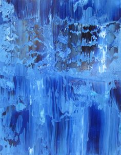 Sold.... Abstract Water Painting Blue 11x14