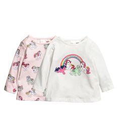 Jersey Tops - White/My Little Pony - Kids Girl Online, H&m Online, Baby Girl Wishes, H&m Sale, Kids Outfits, Cute Outfits, Baby Girl Tops, Best Deals Online, Graphic Sweatshirt