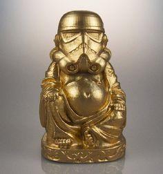 Star Wars  Zen Trooper  Brilliant Gold by muckychris on Etsy