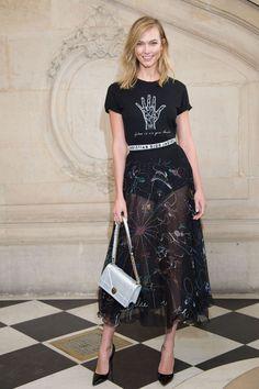 Karlie Kloss au défilé Dior