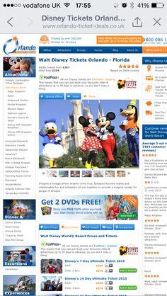 Orlando ticket deals