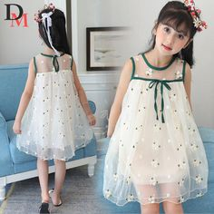 >> Click to Buy << girls dresses flower party girl dress summer wedding princess toddler fashion kids clothes clothing birthday for 3~14 year PW013 #Affiliate