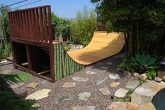Backyard half pipe skate ramp design that actually looks cool. http://californiapixie.com/2012/06/20/the-9-lives-of-a-backyard-skate-ramp/
