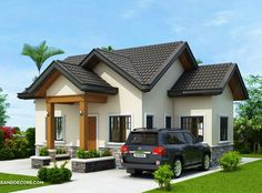 Below are 20 small house designs compiled to give you inspiration if you are looking for a small house to build. First image direct below is also featured in pinoyeplans complete with floor plans and [. Two Storey House Plans, One Storey House, Small House Floor Plans, Best House Plans, Two Bedroom House Design, Small House Design, Modern House Design, Modern Style Homes, Modern Bungalow