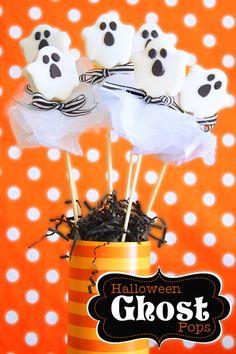 Oreo Ghost Pops for Halloween