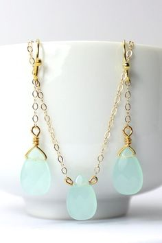 Mint Green Bridesmaid Jewelry Set Mint Bridesmaid