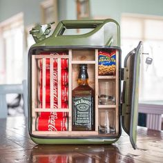 Jerry Can Mini Bar , Mancave Liquor Bottle Sizes, Liquor Bottles, Liquor Bar, Mini Bars, Gifts For Husband, Gifts For Him, Jameson Bottle, Jerry Can Mini Bar, Man Cave Gifts