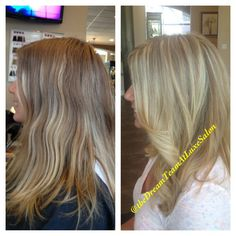 Before and After Cool Blonde Balayage