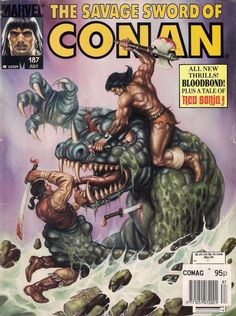 SAVAGE SWORD OF CONAN #187 LARRY YAKATA / ERNIE CHAN 1991 vg+