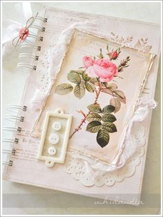 beautiful shabby journal