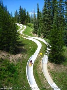 Winter Park, CO cement alpine slide