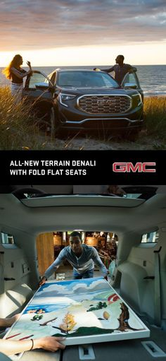 The all-new 2018 GMC Terrain's Fold-flat front passenger seat and flat-folding rear seats help offer greater versatility for stowing longer items and make it easier to load cargo. There are also new under-floor compartments in the cargo area for more secure storage.  Some believe it's better to live to a higher standard. We couldn't agree more. Here's to living Like A Pro.