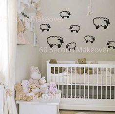 Counting sheep nursery bedrrom wall sticker set