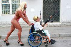 Drag Rollstuhl