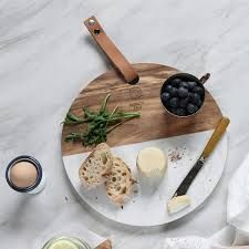 Our Marble & Wood Cheese Board is ideal for slicing and serving in style. Marble Cheese Board, Marble Board, Cheese Boards, Wood Cutting Boards, Cheese Cutting Board, Marble Cutting Board, Keramik Design, Wooden Kitchen, Diy Wood Projects