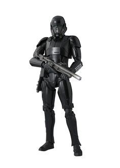 "S.H.Figuarts - Death Trooper (Rogue One: A Star Wars Story). From ""Rogue One: A Star Wars Story"" comes an S.H.Figuarts figure of a Death Trooper!. This elite soldier of the Galactic Empire comes with two blasters and optional hands to hold the included weapons. The figure measures about 15.5cm tall."