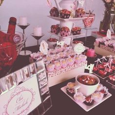 Pink and Brown Bridal/Wedding Shower Party Ideas | Photo 15 of 32