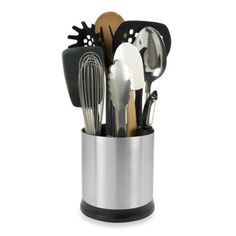 OXO Good Grips® Stainless Steel Rotating Utensil Holder - BedBathandBeyond.com
