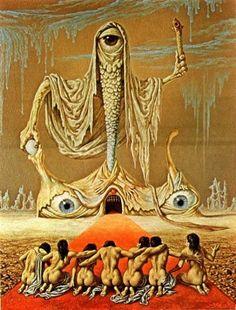 Dutch master: The grotesque & twisted surrealism of Johfra Bosschart Dark Fantasy Art, Dark Art, Creepy Art, Weird Art, Arte Horror, Horror Art, Art And Illustration, Arte Inspo, Arte Black
