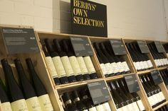 Our Own Selection wines at our Warehouse Shop in Basingstoke, Hampshire. Photography by Joakim Blockstrom. Berry Bros, Magnetic Knife Strip, Wine And Spirits, Hampshire, Wine Rack, Wines, Warehouse, The Selection, Berries