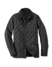 The Barbour Heritage Quilt jacket for men boasts diamond quilting with a more tailored fit.