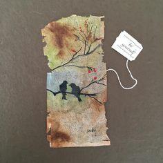 Beautiful tea bag art!
