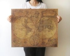 Large vintage style retro paper poster gifts 24 x 22 inch globe old 499 large vintage style retro paper poster gifts 24 x 22 inch globe old world gumiabroncs Images
