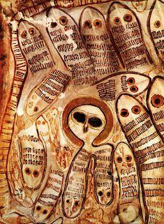 Wandjina Painting with Snakes